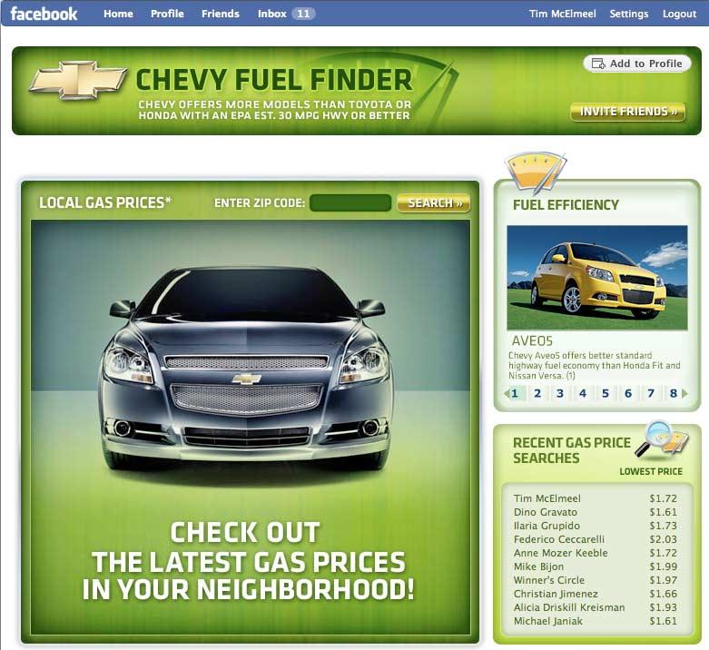 Chevy - Fuel Finder